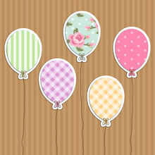 Cute Retro Party Balloons As A...