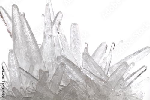 white phosphate crystal Wallpaper Mural