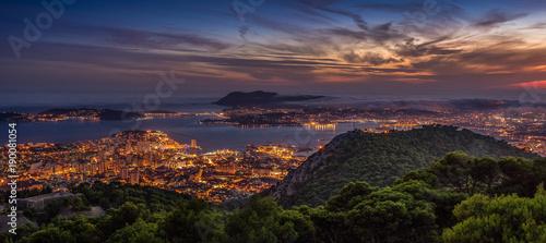 Photo  Toulon depuis le Mont Faron - Var