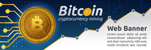 Bitcoin Cryptocurrency Concept Banner Background