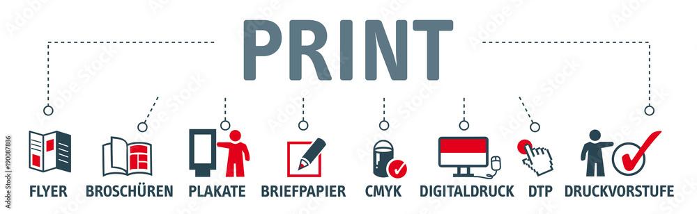 Fototapeta Banner Print Konzept