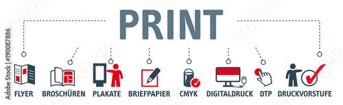 Fotomural  Banner Print Konzept