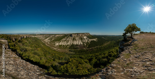 Foto op Canvas Nachtblauw Beauty nature landscape Crimea