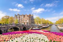 Amsterdam City Skyline At Cana...
