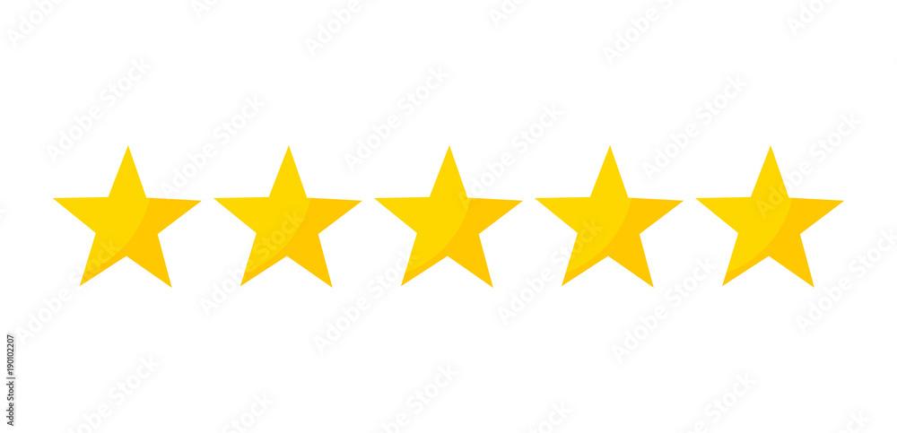 Fototapety, obrazy: Five stars rating