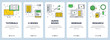 Vector modern thin line online tutorials concept banner set