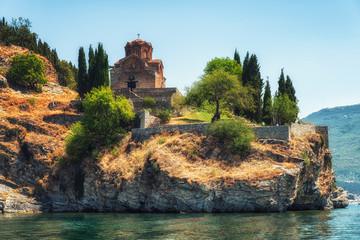 Fototapeta na wymiar the Church of St John of Kaneo Byzantine style of the XIIIth century, Republic of Macedonia, Ohrid,