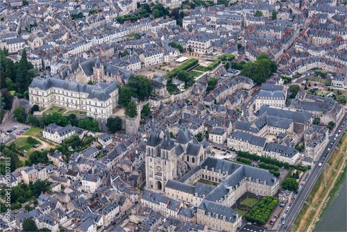 Fotografia  Vue aérienne du château de Blois en France