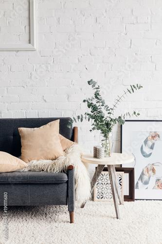Fotografia  modern living room interior with stylish decor, mockup concept
