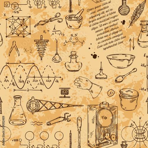bezszwowy-wzor-z-rocznik-przedmiotow-nauki