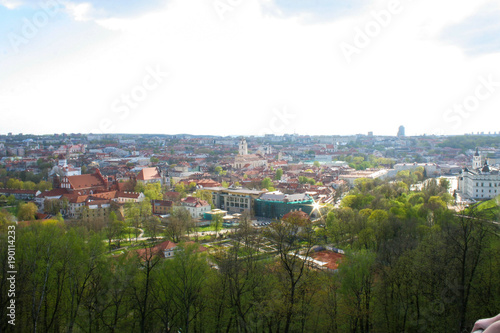 Deurstickers Toscane General view from above on the old town in Vilnius, Lithuania