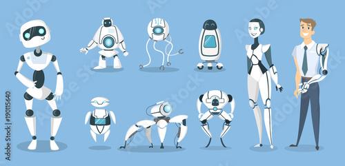 Fotografia, Obraz  Future robots set.