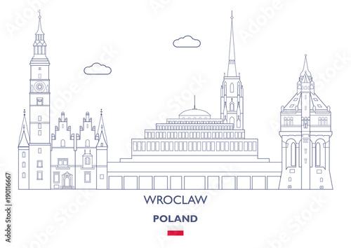 Wroclaw City Skyline, Poland Fototapeta