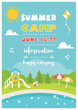 Beach Camp Or Club For Kids. S...