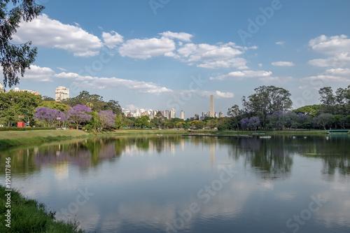 Ibirapuera Park Lake and Sao Paulo Obelisk - Sao Paulo, Brazil
