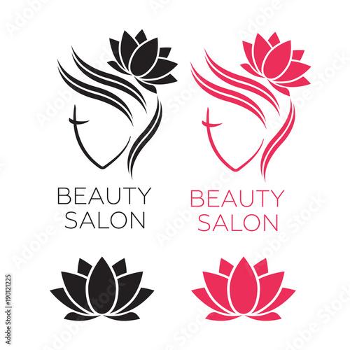 Hair Template   Beautiful Woman Face Logo Template For Hair Salon Logo Hair