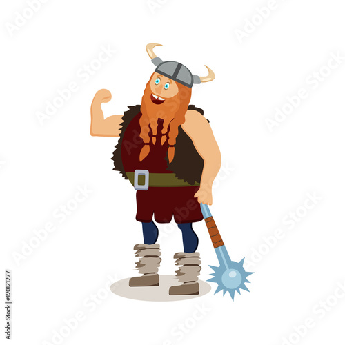 Photo Viking cartoon character