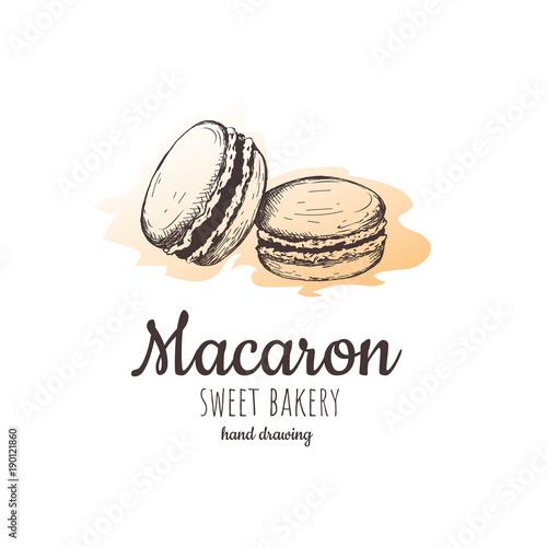 Aluminium Prints Macarons macaron, macaroon almond cakes