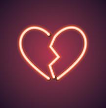 Valentine's Neon Broken Heart ...