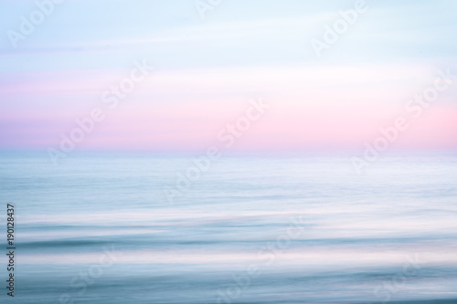 Abstract sunrise sky and  ocean nature background Poster Mural XXL