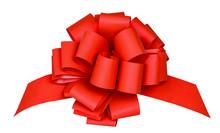 Isolated Ribbon. Big Red Ribbo...