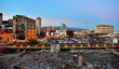 glimpse of Savona from the priamar fortification Italy