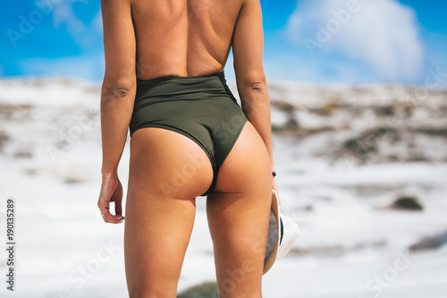 Close-up image of sexy buttocks Canvas Print