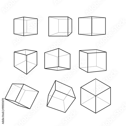 cube construction vector clip art set buy this stock vector and