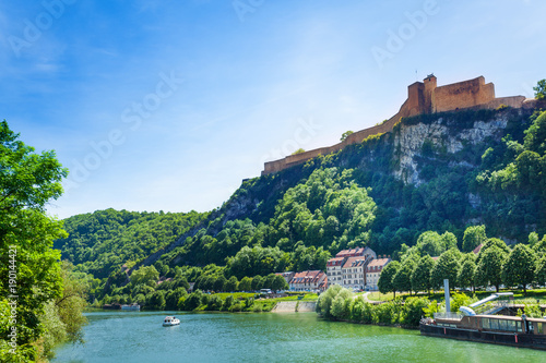 Photo Scenic view of famous citadel in Besancon, France