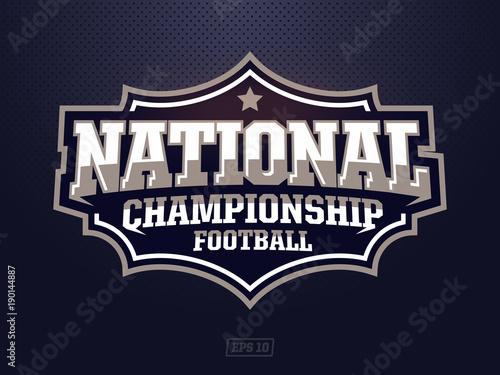 Fototapeta Modern professional american football logo for sport team obraz