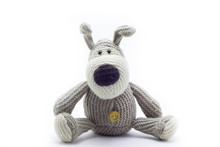 Soft Toy Doggy On A White Background