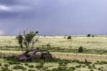 Rusty Wreckage Of A Car