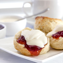 Scones With Strawberry Jam And...