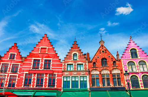 Printed kitchen splashbacks Bridges Grote Markt square in Brugge