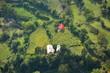 der neue Hof mitten im Ackerland