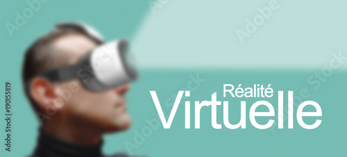 réalité virtuelle ou réalité augmentée casque 3D Intelligence artificielle Wallpaper Mural