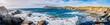 Leinwandbild Motiv Panorama des les Iles du Gaou à Six-Fours-les-Plages, le Brusc