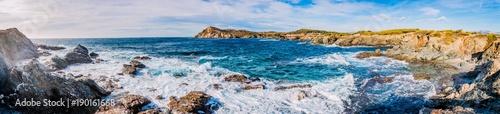 Poster Panoramafoto s Panorama des les Iles du Gaou à Six-Fours-les-Plages, le Brusc