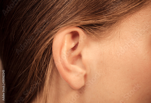 Fotografering Close up on female ear