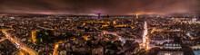 Panorama Of Paris At Night