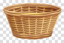 Empty Wicker Basket For Flower...