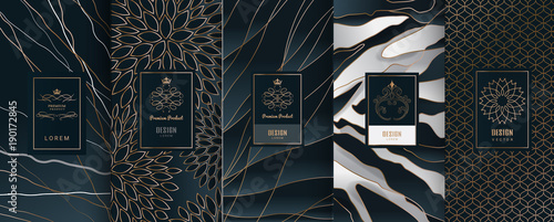 Collection of design elements,labels,icon,frames, for packaging,design of luxury products Fototapeta