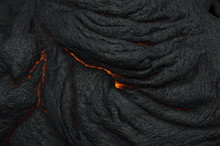 Molten Lava Rocks With Texture And Extreme Heat In