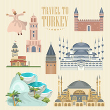 Turkey Vector Vacations Illust...