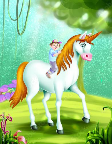 Fotobehang Pony alphabet