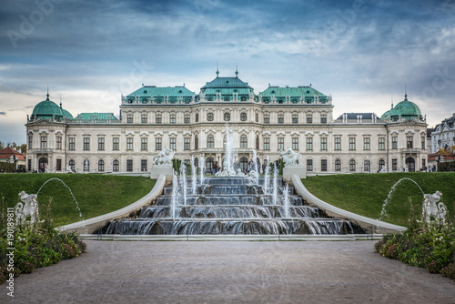 Foto op Canvas Wenen Belvedere Palace and fountains, Vienna, Austria.