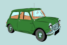 Sketch Cartoon Mini Cars.