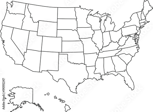 American Map Vector.Super Detail American Map Vector Buy This Stock Vector And Explore