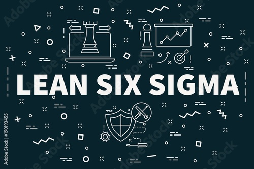 Fotografie, Obraz  Conceptual business illustration with the words lean six sigma