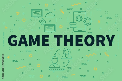 Fotografía Conceptual business illustration with the words game theory